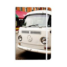 "Angie Turner ""VW Bus"" White Vintage Everything Notebook"
