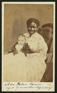 Ada Peters Brown, aged 7 months - less 3 days; Wenderoth, Taylor & Brown, Philadelphia, photographer; African American woman smiling; 1860s
