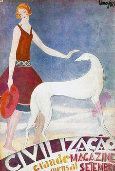 Uma maravilhosa capa do Magazine Civilização, 1928, de autoria de  Lino António.