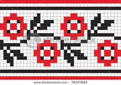Ethnic Ukrainian Ornamental Pattern Royalty Free Cliparts, Vectors, And Stock Illustration. Cross Stitch Bookmarks, Cross Stitch Borders, Cross Stitch Flowers, Cross Stitch Designs, Cross Stitching, Cross Stitch Patterns, Crochet Borders, Crochet Chart, Knitting Charts