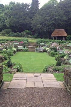 Gorgeous looking award-winning Sunken Garden at West Dean Gardens ...despite the British Summer (rain!).