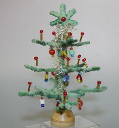 Vintage Miniature Decorated Christmas Tree by JuveloVintage http://www.juvelo-vintage.com