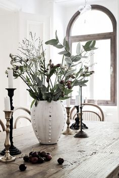 Mix and match traditional candlesticks and a lovely vase!