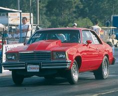 #Red 1979 Chevy Malibu runs 9s