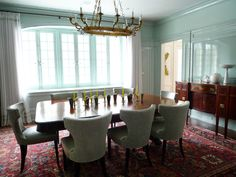 I Have Always Loved This Tiffany Blue Colored Candelaria Design Dining Room.  | My Style   Candelaria Design | Pinterest | Tiffany Blue, Room And Tiffany  ...