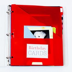 Greeting card organizer christmas birthday etc binder never miss another birthday diy greeting card organizer tutorial with free printable labels m4hsunfo