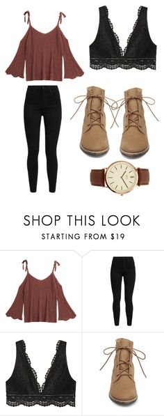 """Outfit 1851"" by that-girl-j ❤ liked on Polyvore featuring Levi's, Victoria's Secret, Steve Madden and BKE"