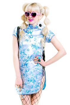 90's Baby Blue Angel Mini Dress - XS