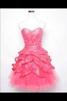 Strapless glitzy sparkly dress! :)