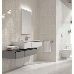 Fiji Stone White Porcelain Floor Tile 33x33cm by Impex | Brooke Ceramics