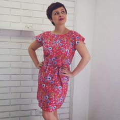Seamwork Akita top lengthened into a dress. By Francine of http://www.francinelacerda.com.br