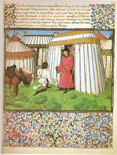 Barthélémy d'Eyck, Hommage de Désir à Honneur (Livre du Cœur d'Amour épris) (1457-72, Österreichische Nationalbibliothek, Wien)
