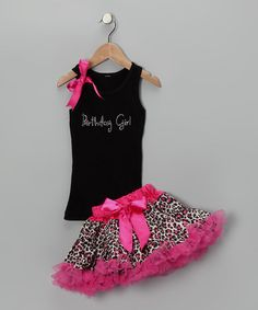Take a look at this Black Birthday Tank & Pink Pettiskirt - Infant, Toddler & Girls by So Girly & Twirly on #zulily today!