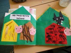 Pour la 5ème et dernière période , nous avons travaillé sur les 3 petits cochons . La maison des contes dernier volet de notre maison des contes une idée trouvée ici http://www.ecolesenfantines.ch/index.php/listearts/288-les-trois-petits-cochons-2 je...