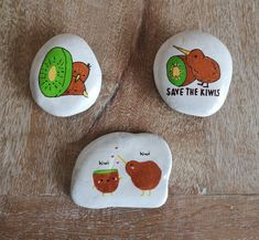 Kiwi rocks created in support of the NZ bird for Bird Of The Year 2021 Rock Painting, Kiwi, Painted Rocks, Create, Collection, Stone Painting, Painted Pebbles