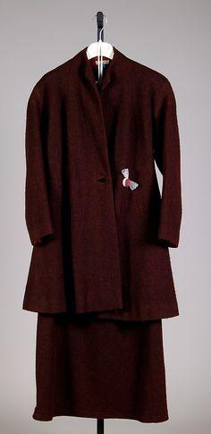 Suit House of Schiaparelli  Designer: Elsa Schiaparelli Date: ca. 1932 Culture: French Medium: Wool Accession Number: 2009.300.4003a, b