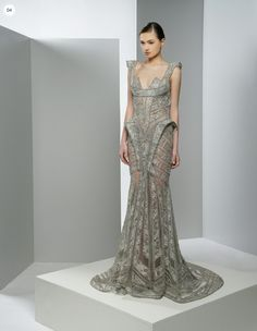 """Gown for the silver queen """"Ziad Nakad, Spring 2013 """" Formal Dresses For Weddings, Formal Gowns, Bridal Dresses, Couture Fashion, Fashion Show, High Fashion, Glamour, Beautiful Gowns, Dress To Impress"""