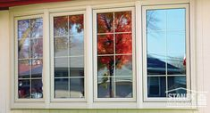 Stanek bow windows improve the look of your home while providing natural light. View our bow window photo gallery today. House Windows, Windows And Doors, Bay Windows, Colonial Style Homes, Window Replacement, Custom Windows, Window Styles, Curb Appeal, Photo Galleries