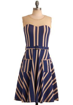 Mod Cloth Dress. Love the pattern. It seems like it would be really flattering on too with the direction of the stripes.
