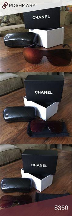 Brand New Chanel Sunglasses Shield Chanel Sunglasses CHANEL Accessories Glasses