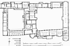 Apethorpe Hall first floor plan - inspiration for Willowhaven in 'With Love in Sight' by Christina Britton