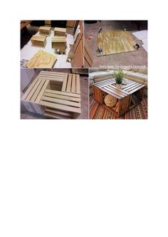 Recycling, coffe table