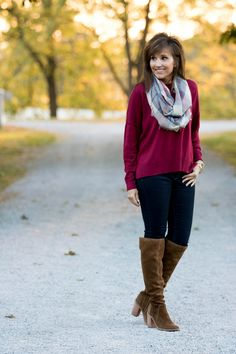 Fashion blogger Cyndi Spivey wearing a BP brand sweater from Nordstrom