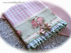 www.createdbycath.com So shabby and chic towel. by Created by Cath., via Flickr