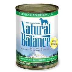Natural Balance Vegetarian Dog Canned Food 12/13oz