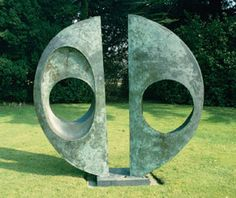 Two Forms - Divided Circle (1969) by Dame Barbara Hepworth