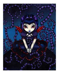 Violet Sometimes - a Gothic Fairy by Jasmine Becket-Griffith