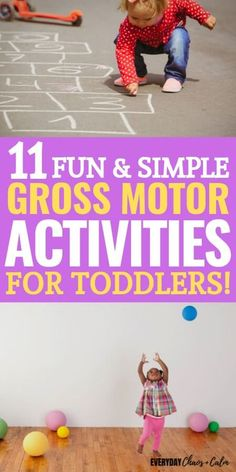 Is your toddler reaching his developmental milestones? Here are some gross motor activities for toddlers to help them build strong muscles and coordination! Toddler Gross Motor Activities, Motor Skills Activities, Movement Activities, Gross Motor Skills, Toddler Learning, Sensory Activities, Infant Activities, Toddler Preschool, Physical Activities