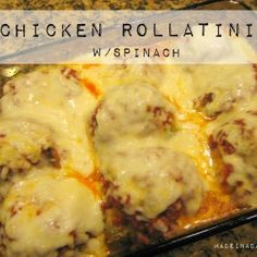 Chicken Rollatini w: