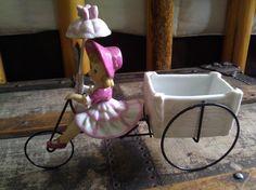 Rare Ceramic Girl Riding a Bicycle / Enesco / Japan by Lauralous, $68.00
