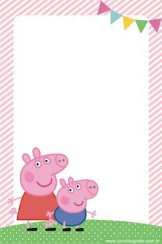 Convite Peppa Pig                                                                                                                                                                                 More