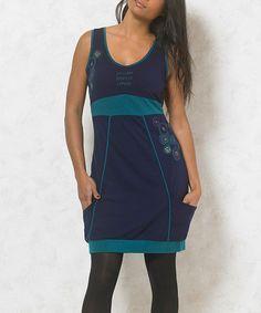 Loving this Navy Medallion Pocket Dress - Plus Too on #zulily! #zulilyfinds
