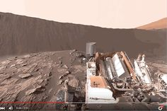 """NASA published a 360-degree image on the Curiosity rover's official Facebook page last week that was meant to let viewers """"explore Mars"""" with their smartphones.  Luckily, a new version has just been uploaded to the YouTube channel of NASA's Jet Propulsion Laboratory, and it looks much"""