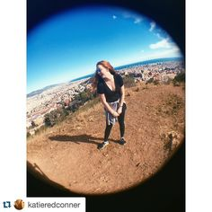 #Repost @katieredconner My legs better be in good shape after climbing a mountain today     it was worth this view though. #strut #Spain #Barcelona #ispyapi