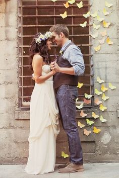 Groom's attire. I think with boots it would be the perfect mix between country and bohemian.
