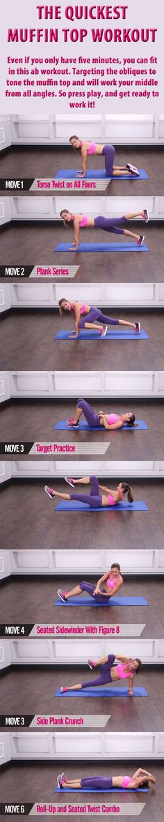 THE QUICKEST  MUFFIN TOP WORKOUT.