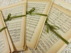 Mini Sheet Music Ephemera Pack 20 Miniature Music by naturegirl22, $7.50