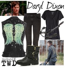 """""""Daryl Dixon: The Walking Dead"""" by ravenclawpride98 on Polyvore"""
