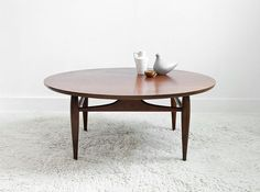 Vintage Mid Century Coffee Table Wood Modern Side Table by Moved