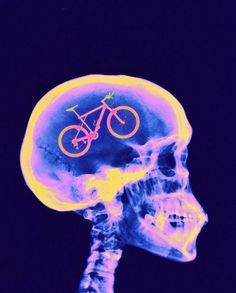 Biking on the brain? Is this you?  Repin if it is.