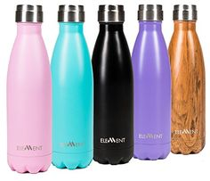 Element Vacuum Insulated Stainless Steel Water Bottle  BONUS Xmas Gift Box Included  17 oz 750 ml Cold 24 hours Hot 12 hours  8 colours to choose from  *** Be sure to check out this awesome product. Note:It is Affiliate Link to Amazon.