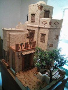Aladdin style Doll house Clay Houses, Ceramic Houses, Miniature Houses, Diy Dollhouse, Dollhouse Furniture, Fontanini Nativity, Christmas Nativity Scene, Elements Of Design, Old World Charm