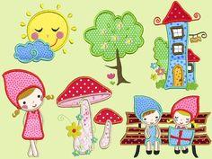 Stickdatei Embroidery design kinder apfelbaum