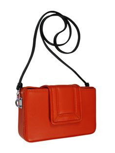 GOSHICO, small BOXY (evening bag with belt), orange. To download high or low resolution photos view Mondrianista.com (editorial use only).