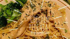 Creamy Lemon Garlic Chicken (Piccata) @thepincook.com Lemon Garlic Chicken, Chicken Piccata, Cooking, Ethnic Recipes, Blog, Gourmet, Kochen, Blogging, Brewing
