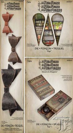 Tim Holtz for Sizzix. New for CHA-W 2014. Click on pic to see lots more!